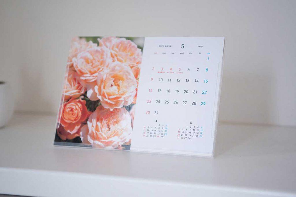 卓上/壁掛け両用 ポストカードカレンダー<br>Niigata Flower 12scenes 2021